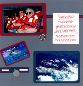 2003 05 31 Carnival Triumph Cruise Kerrick-Rotchford Ship Muster Station