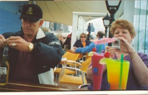 2007 06 16 NCL Star Alaska Ship Exterior Drinks Steve Phyllis