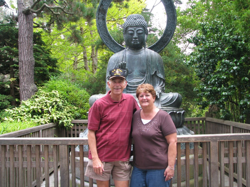 2013 09 12 SF Garden Gate Park Japanese Tea Garden bronze Buddha (1)
