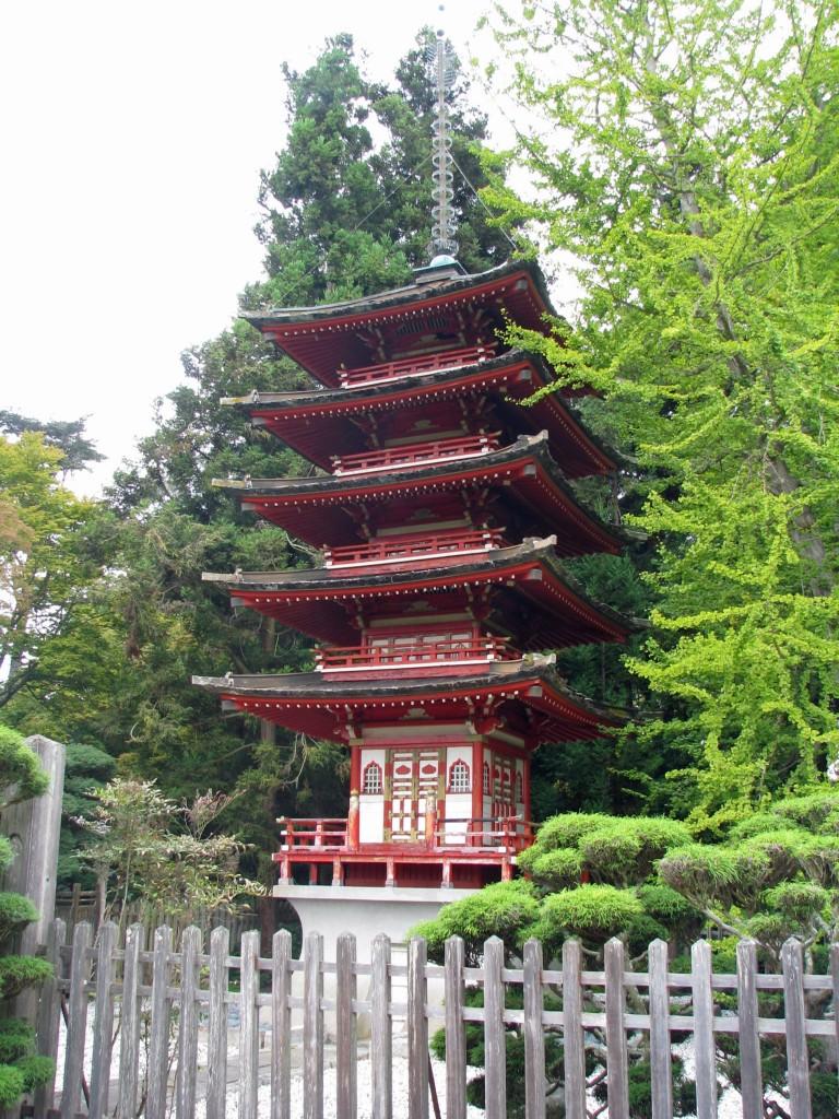 2013 09 12 SF Garden Gate Park Japanese Tea Garden pagoda