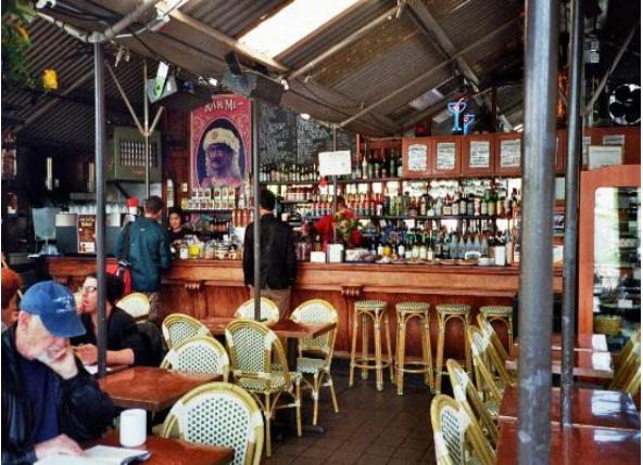 2013 09 10 SF Castro St Cafe Flore Bar