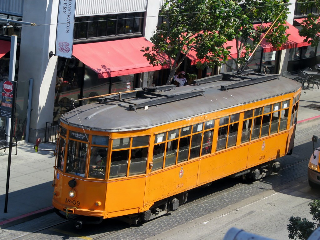 2013 09 10 SF Fishermen's Wharf Street Car Orange