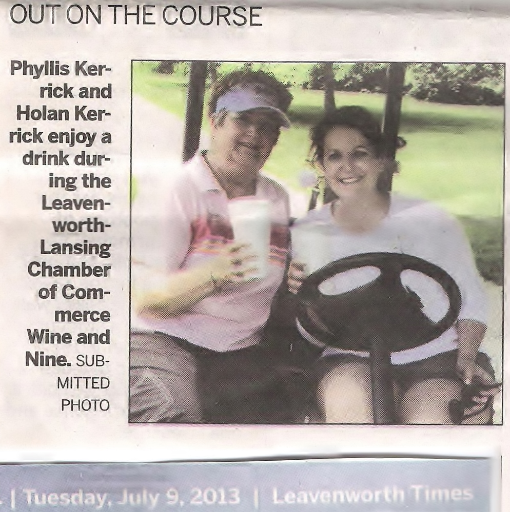 2013 07 09 Leavenworth Lansing Chamber of Commerce Wine & Nine Golfing