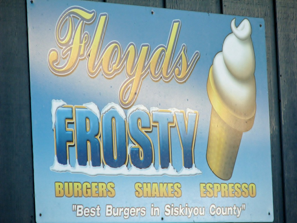 2013 09 14 McCloud CA Lunch Floyds Frosty Best Burgers in Siskiyou County