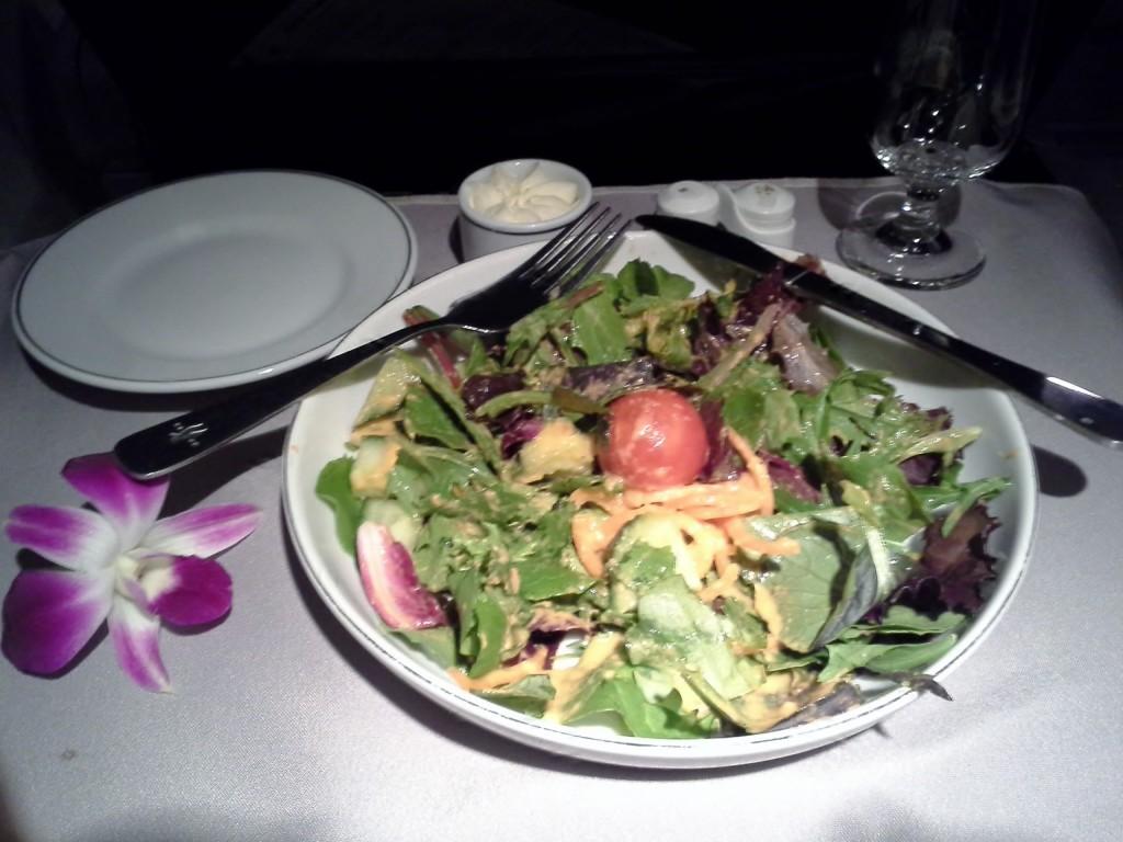 2013 10 26 First Class Dinner Salad