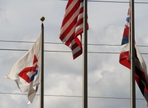 2013 10 29 Hawaii Dole Plantation Flags