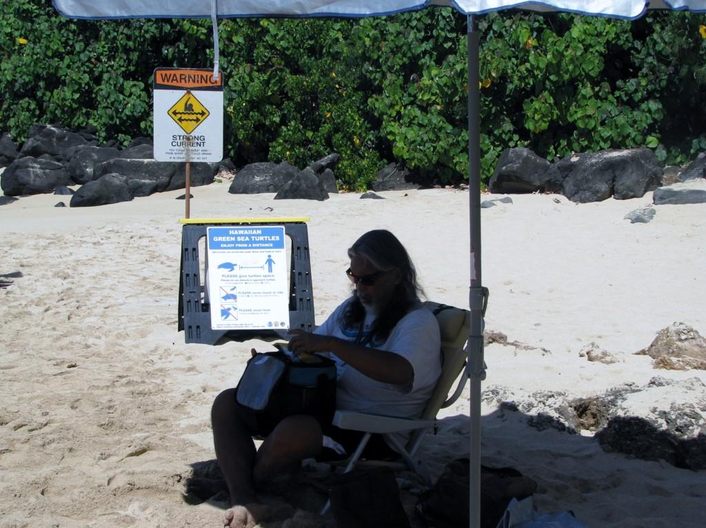 2013 10 29 Hawaii Honolulu Turtle Bay Honu Guardian volunteer