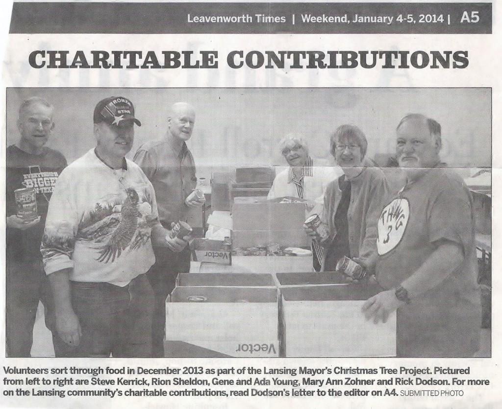 2014 01 04 Newspaper Article Mayor Christmas Tree