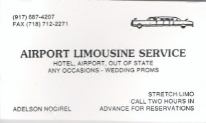 2007 02 16 New York City Airport Limousine Service Business Card