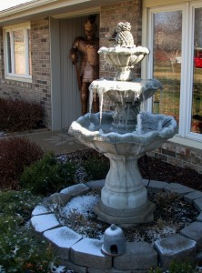 2014 03 23 Frontyard Fountain Frozen