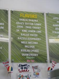 2013 11 01 Hawaii Kailua Island Snow Shaved Ice Flavors