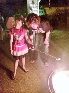 2014 07 04 Fire Pit Marshmellows Samantha Kristie
