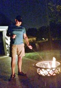 2014 07 04 Fire Pit Marshmellows Steve