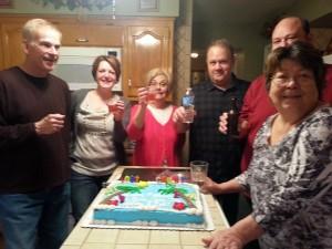 2015 03 06 Wine Tasting Birthday Cake Birthday Group