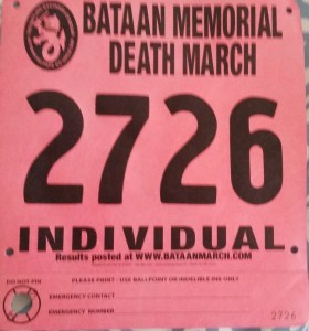 2015 03 20 Bataan Memorial Death March NM Race Bib