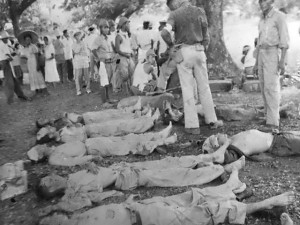 Taken during the March of Death from Bataan to the prison camp march at Cabanatuan. (Defense department USMC 114,540, National Archives).