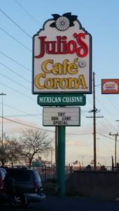 2015 03 19 El Paso Julio's Cafe Corona Sign