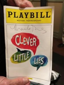 2015 11 28 New York Clever Little Lies Playbill signed