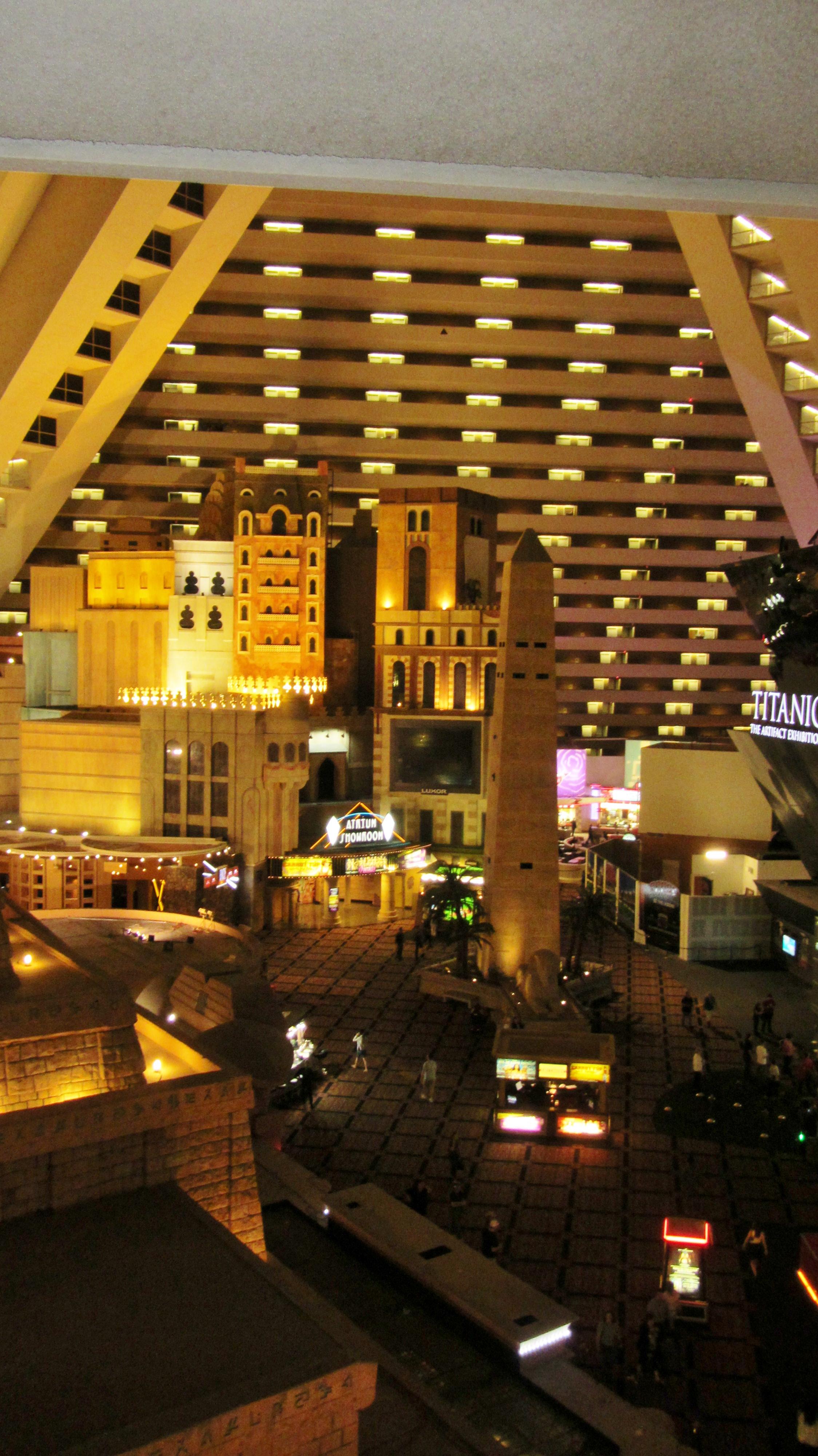 Luxor Hotel Casino Inside