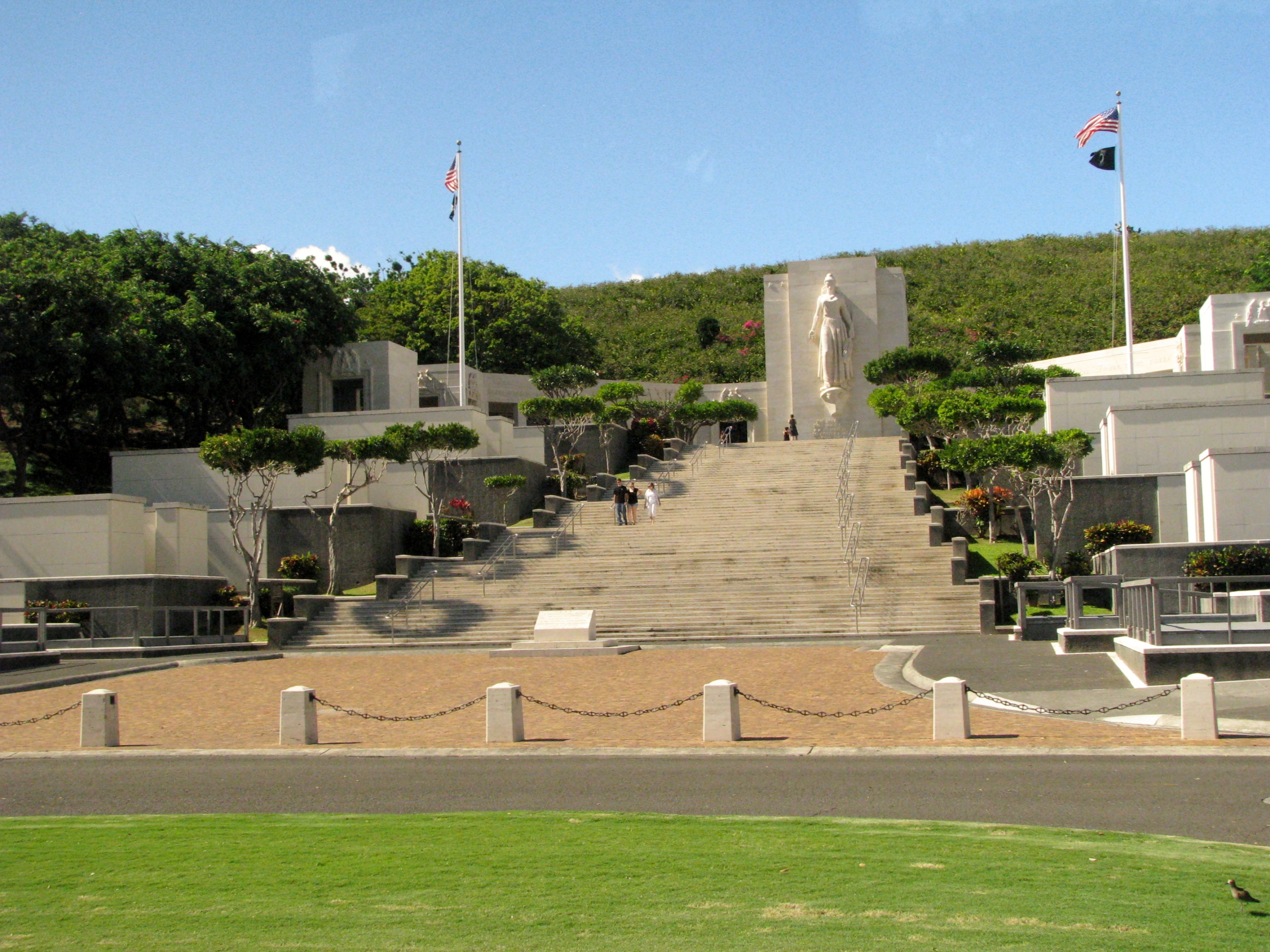 IN THESE GARDENS ARE RECORDED THE NAMES OF AMERICANS WHO GAVE THEIR LIVES IN THE SERVICE OF THEIR COUNTRY AND WHOSE EARTHLY RESTING PLACE IS KNOWN ONLY TO GOD